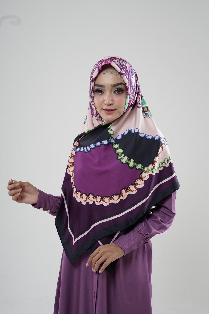 Hijab Turki purple
