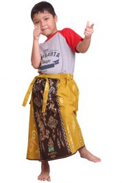 Celana Sarung KIDZ - BROWN YELLOW