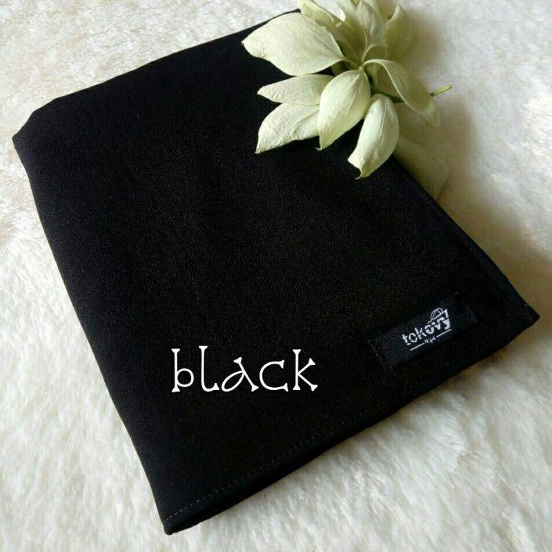Kerudung Segi empat Lebar - Black