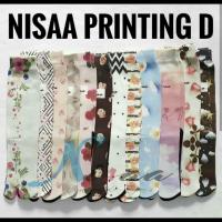 Kaos Kaki Nisaa Printing