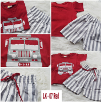 Setelan Anak Laki-laki kode LK-07 Red