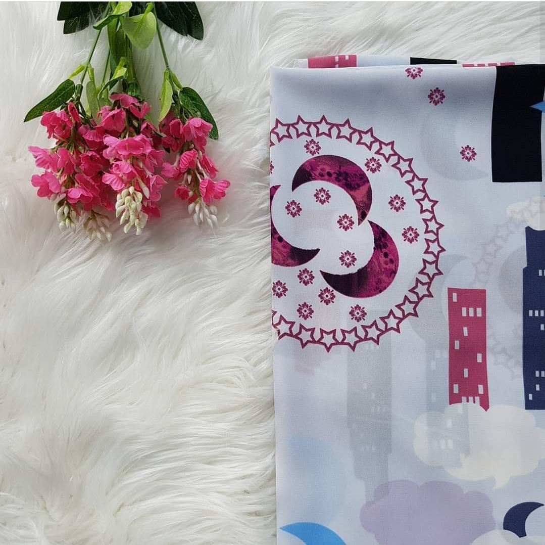 Hijab square motif 120cm kode MA 24