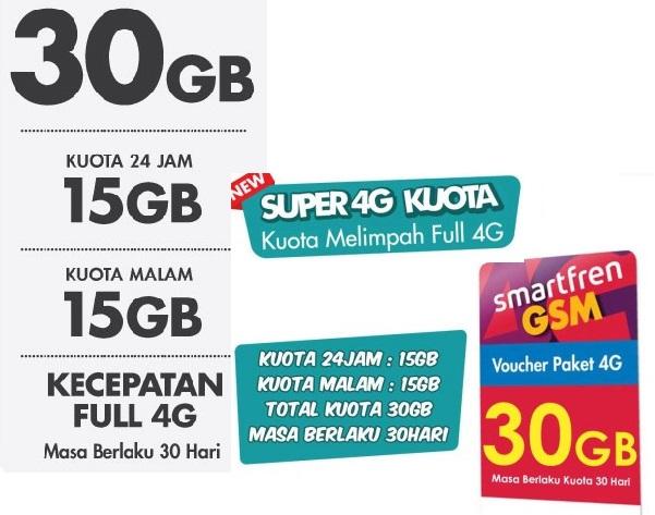 Voucher Kuota Smartfren 30GB
