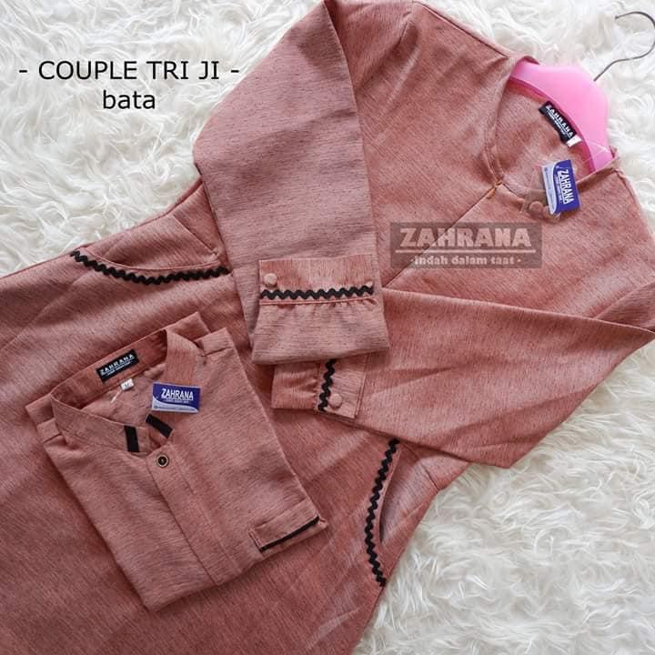 Couple Triji -  Bata  (Gamis size L, koko size XL)