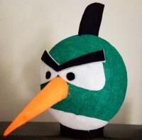 Lampion angry bird hijau