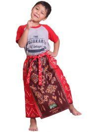 Celana Sarung KIDZ - RED BURGUNDY