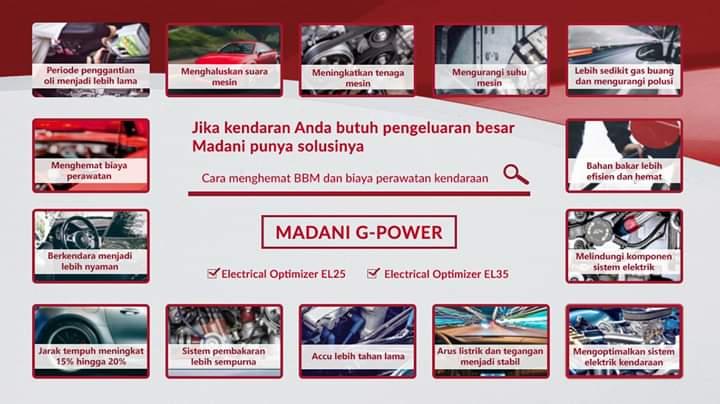 ALAT PENGHEMAT BBM   MADANI G-POWER EL25