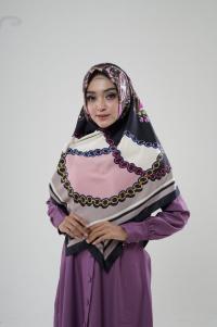 Hijab Turki 03  brown pink