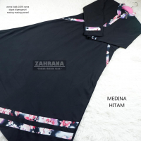 Gamis Medina - Hitam XL