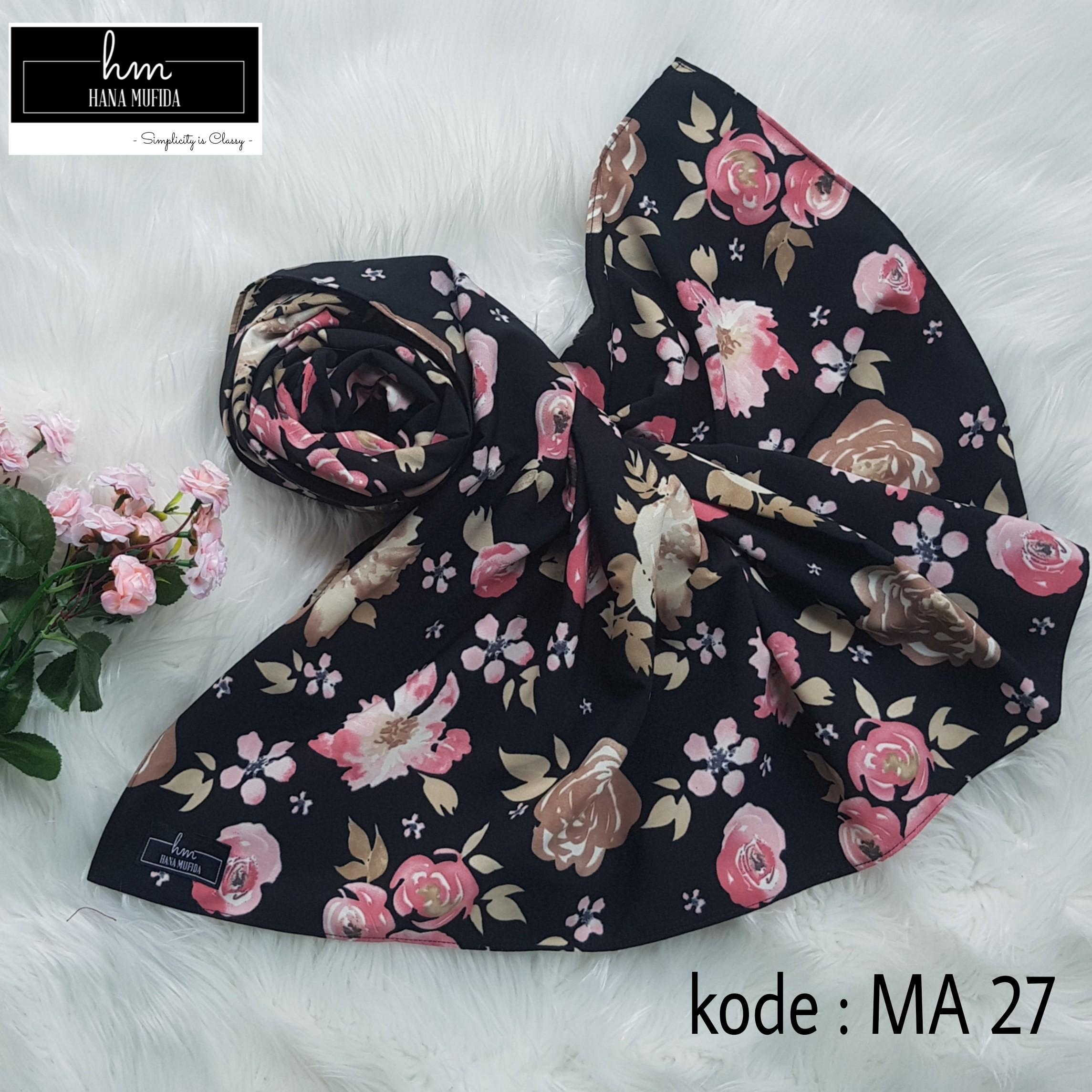 Hijab square motif 120cm kode MA 27