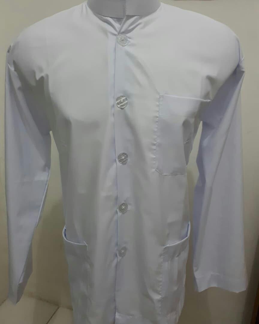 Baju Koko model Haibah putih