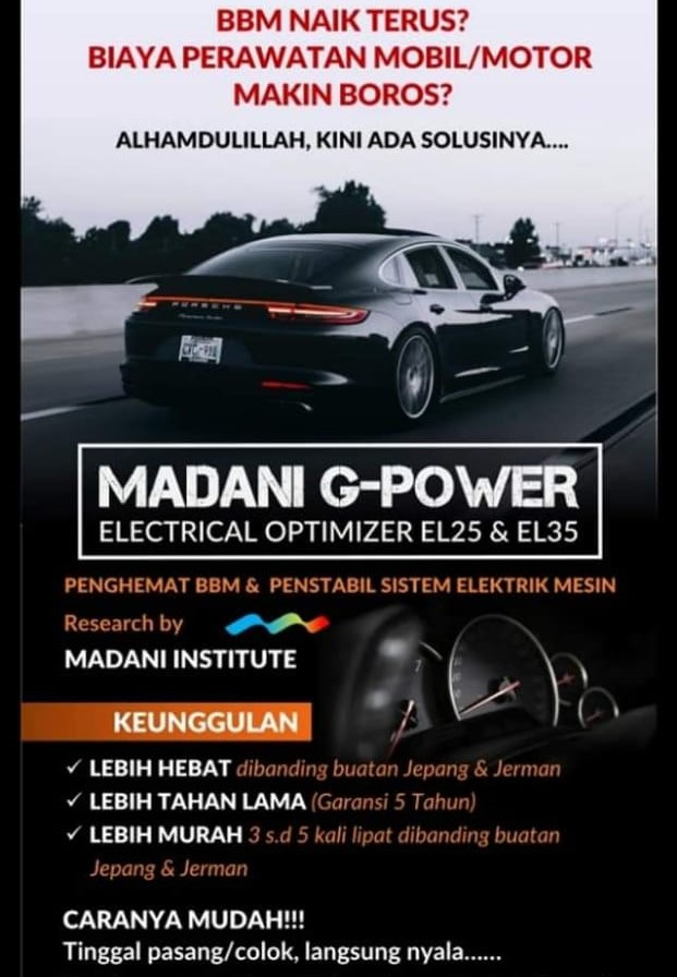 ALAT PENGHEMAT BBM | MADANI G-POWER EL45