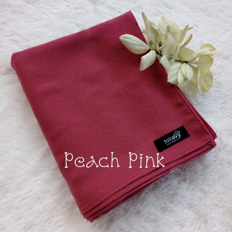 JJlbab Segi Empat Syar'i warna Pink - peach pink