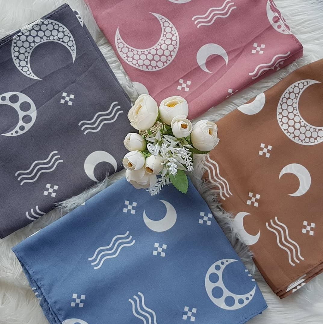 Hijab square motif 120cm kode MA 20