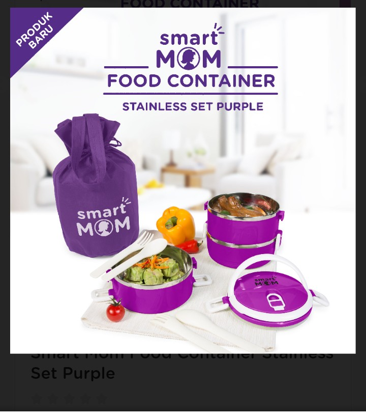 Smart Mom Food Container Stainless Set Purple
