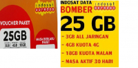 Voucher Indosat Data Bomber 25GB